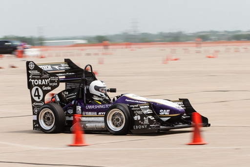 UW Formula SAE Team 24 combustion car at the Lincoln, Nebraska competition